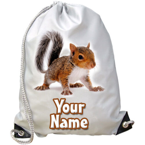 SWIMMING SQUIRREL PERSONALISED GYM PE// DANCE BAG GREAT GIFT /& NAMED TOO