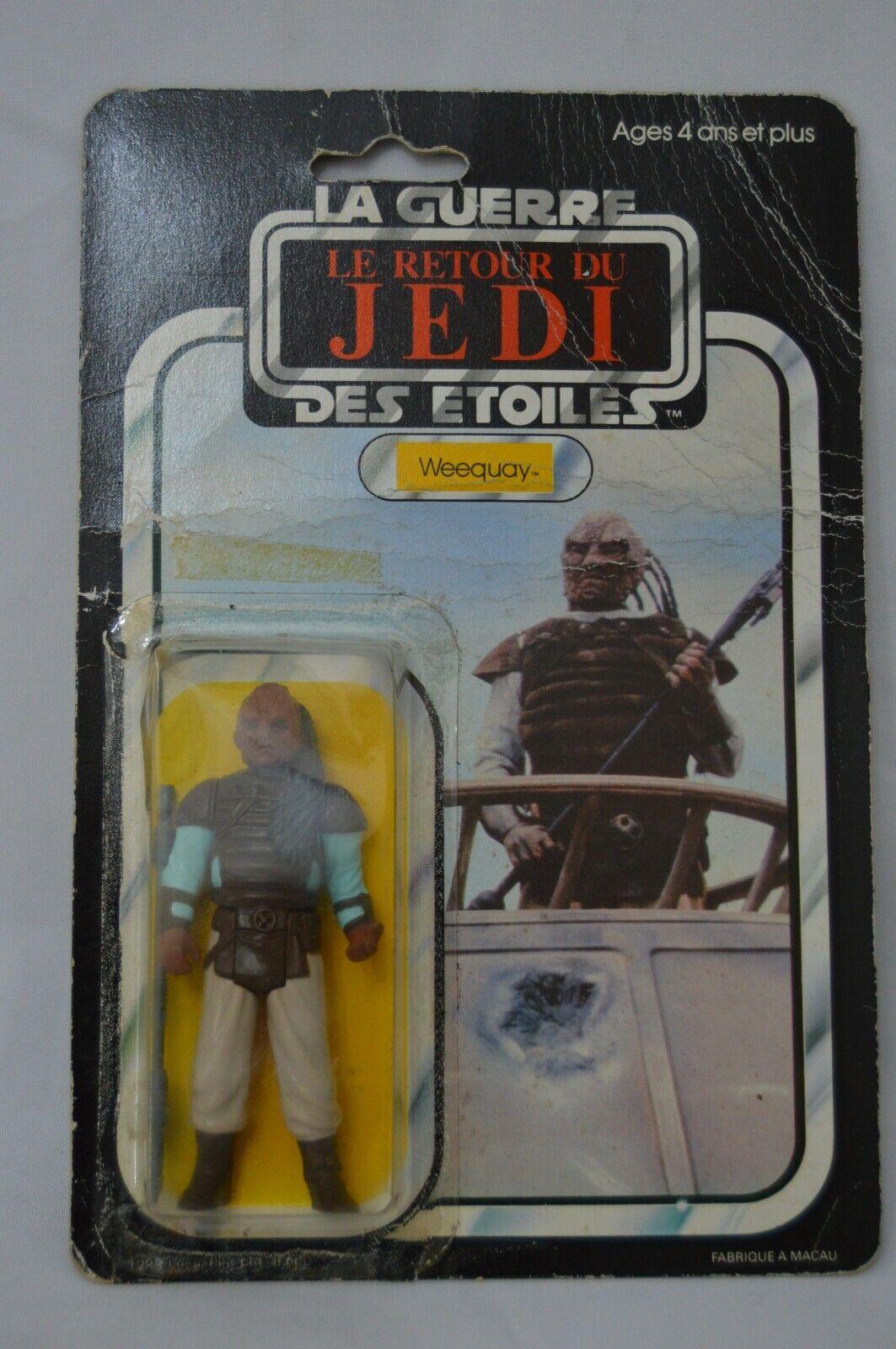 más orden Vintage 1983 Estrella Wars Meccano Regreso del del del Jedi Weequay menta en tarjeta-francés Logo-Raro  al precio mas bajo
