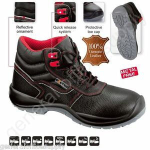 Men-S3-SRC-Safety-Boots-Trainers-Shoes-Work-COMPOSITE-TOE-CAP-Real-Leather-New