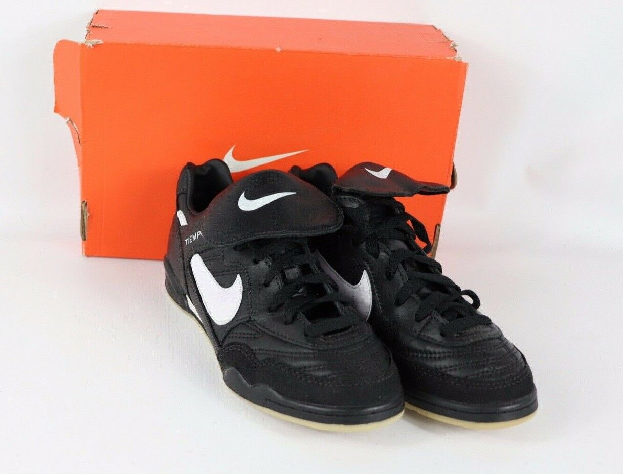 Vtg 90s New Nike Mens 7.5 Tiempo Trainer Indoor Soccer shoes Trainers Black