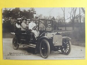 cpa-Photo-POTSDAM-1907-PRINZ-Auguste-GUILLAUME-de-PRUSSE-AUTOMOBILE-VOITURE-CAR