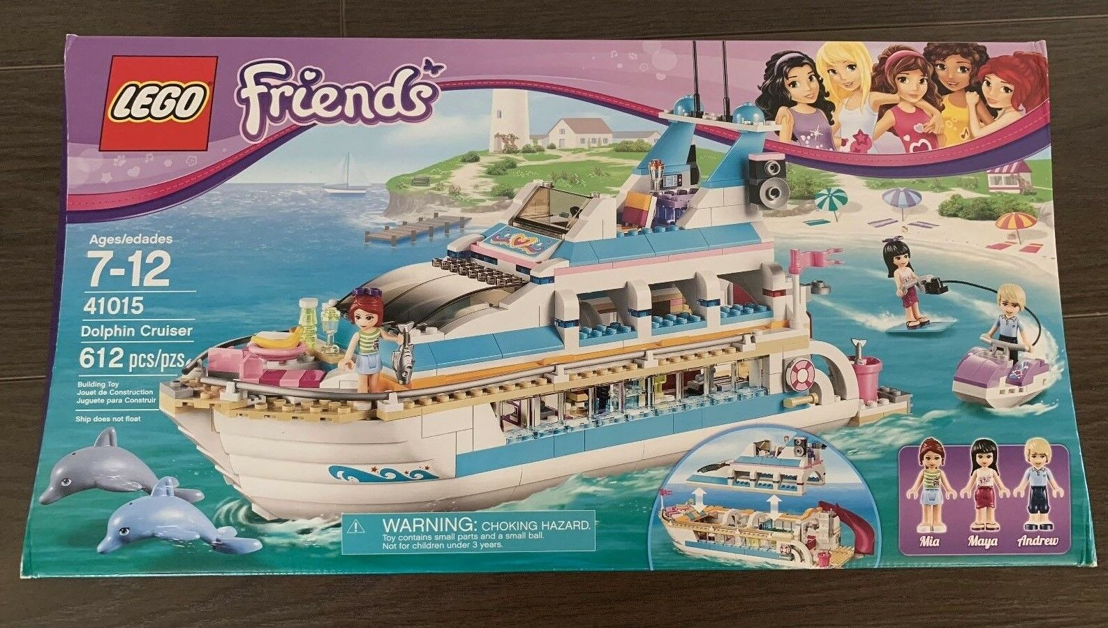 LEGO Friends Dolphin Cruiser (41015) New Sealed Retired