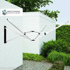 26M FOLDING WALL MOUNTED CLOTHES AIRER DRYER WASHING LINE INDOOR/OUTDOOR GARDEN
