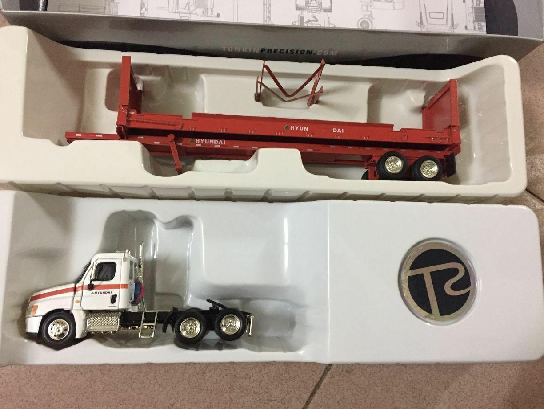 Raro Diecast Coleccionables de Tonkin Replicas Camión Hyundai 1 53 Modelo De Remolque De Metal