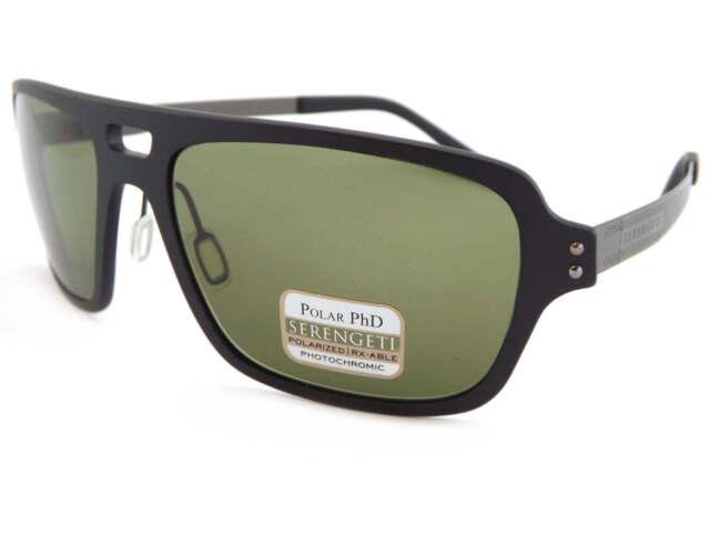SERENGETI polarized photochomic NUNZIO Sunglasses Satin Black / 555NM Green 7837
