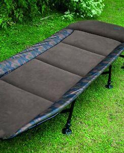 Skills-Camo-Bedchair-NEW-Carp-Fishing-6-Leg-Bedchair