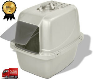 Extra Large Cat Litter Box Closed Sifting Tray Cat Pan Giant Indoor Cat House Ebay