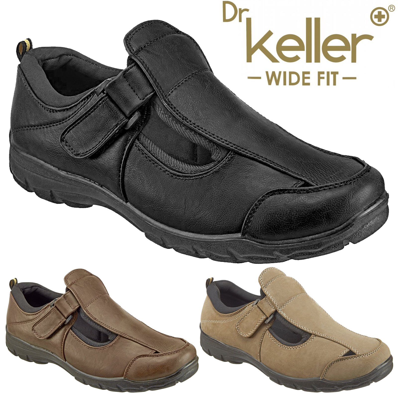 DR KELLER MENS WIDE FIT SANDALS LIGHTWEIGHT SUMMER SHOES CLOSED TOE CASUAL SMART SHOES SUMMER 90ca17