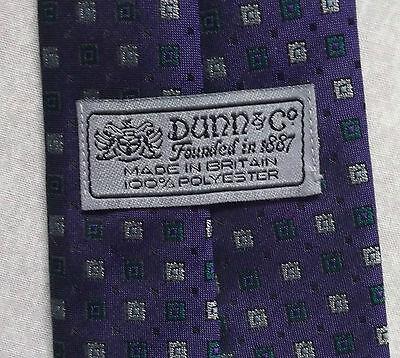 Ultima Raccolta Di Vintage Cravatta Dunn & Co Da Uomo Cravatta Viola Moda Retrò Verde Argento-mostra Il Titolo Originale