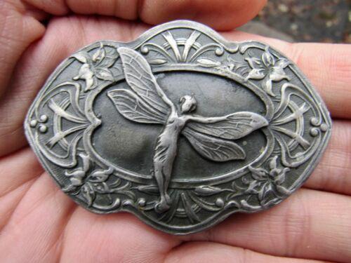 Vtg FAIRY Belt Buckle ART Sprite Pixie Faerie Myth