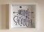IKEA RIBBA Box Frame Personalised Vinyl Wall Art Quote Hello Santa Christmas