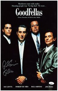 "Paul Sorvino Autograph Signed 11x17 Photo - Goodfellas ""Paulie"" (JSA COA)"