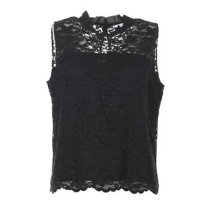 iBLUES-MAX-MARA-Top-Black-Floral-Lace-Size-44-UK-12-RRP-129-BG-312