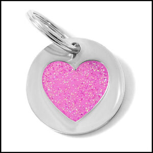 K9-SMALL-PINK-GLITTER-HEART-CAT-KITTEN-PUPPY-TAG-NEW-amp-BOXED-FREE-POSTAGE