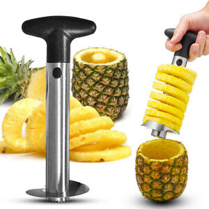 PINEAPPLE CORE CUTTER STAINLESS STEEL KITCHEN TOOL SLICERl PEELER TROPICAL FRUIT