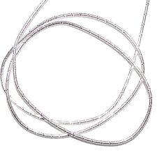 "WC342f French Wire Silver Fancy Twist Tube 1mm Bullion Jewelry Component 13""/pkg"
