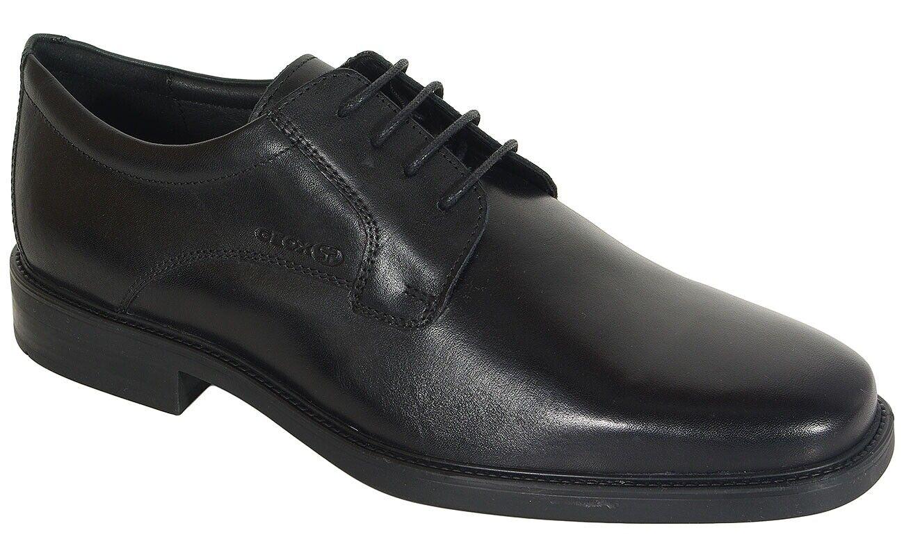 rotuzierung GEOX Brandolf C lace ups smooth leather schwarz