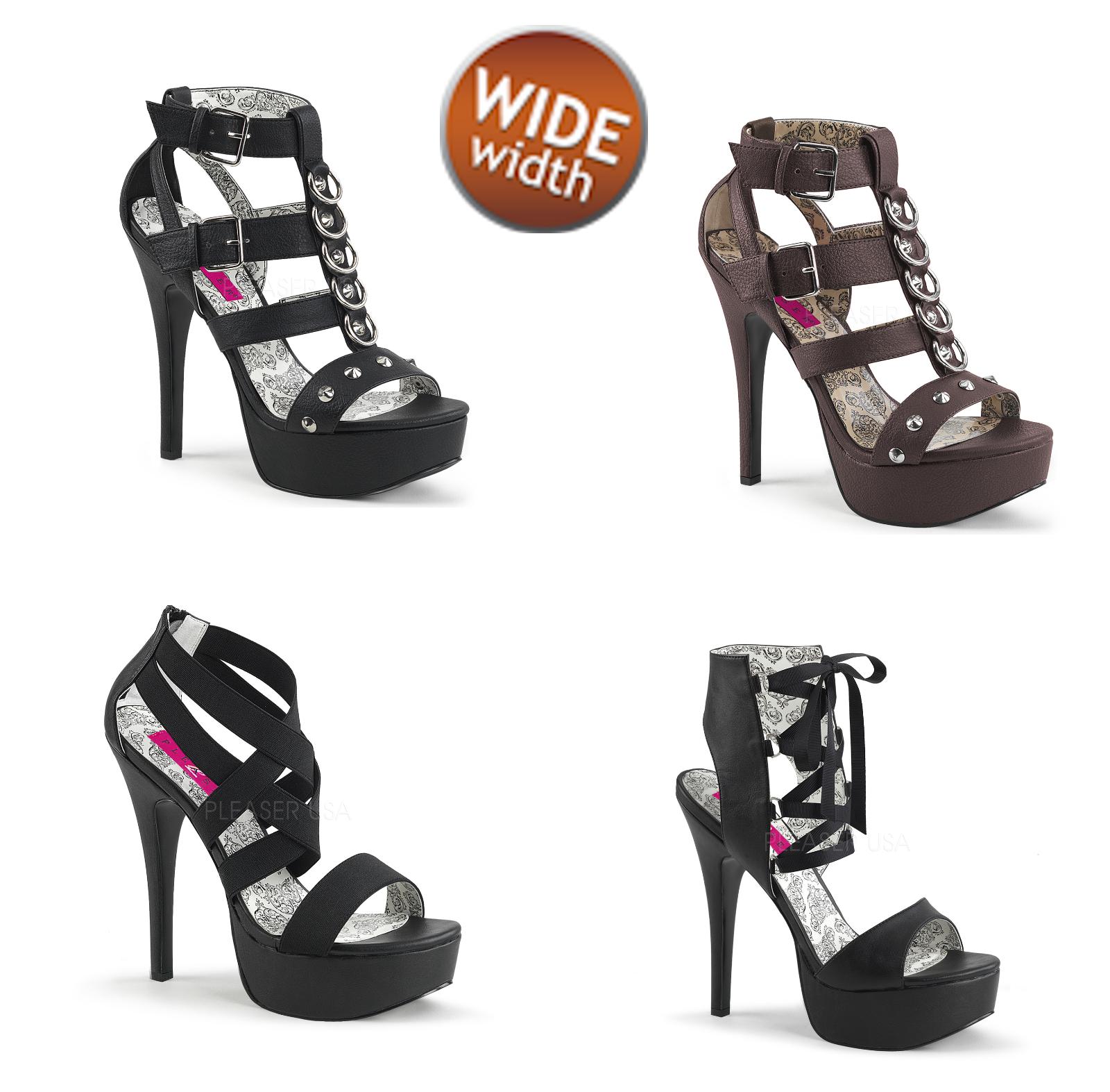 Pleaser rosa Label Wide Width TEEZE-42W TEEZE-47W TEEZE-49W Sandal Dimensione 11-16