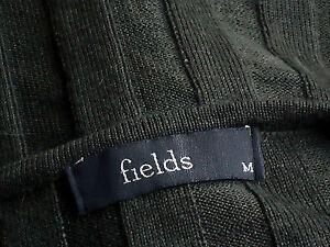 FIELDS-GreenStripedLongSleevelessMerinoKnitSizeM-as-NEW