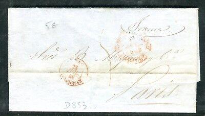 Alarm Espagne - Lettre Avec Texte De Barcelone Pour Paris En 1849 Keuze Materialen