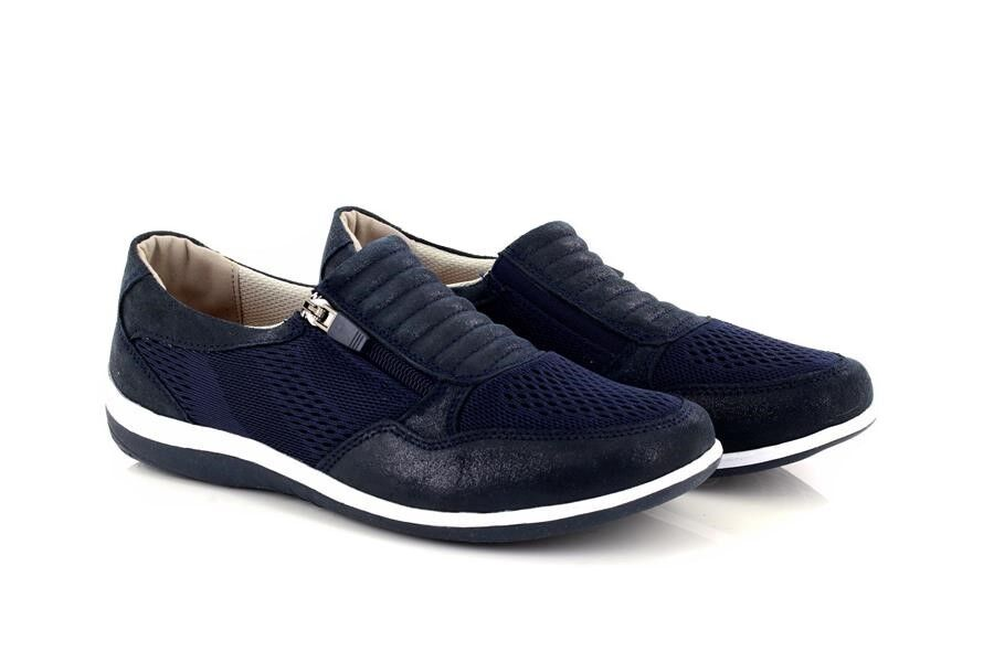 Ladies BOULEVARD L534 Trainers and Leisure BOULEVARD Suede Textile