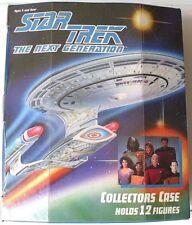 Lot de 2 Tara Toy 1993 Star Trek The Next Generation 12 Figurine Collector/'s Case