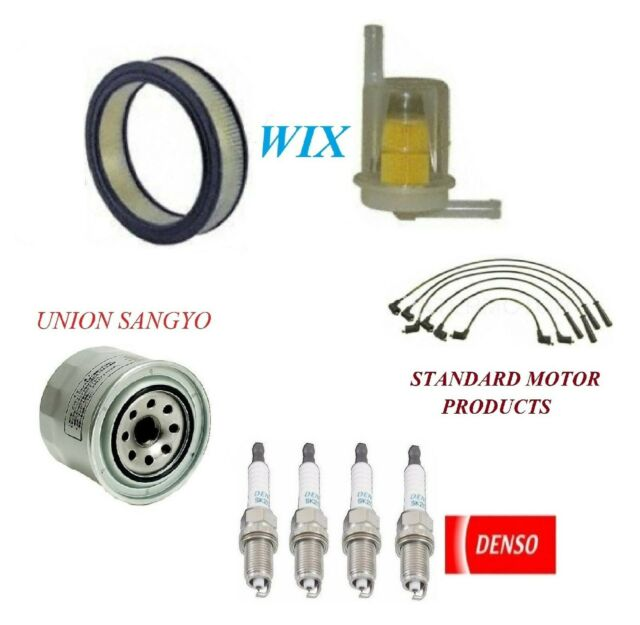 Tune Up Kit Air Oil Fuel Filters Wire Plugs For DODGE