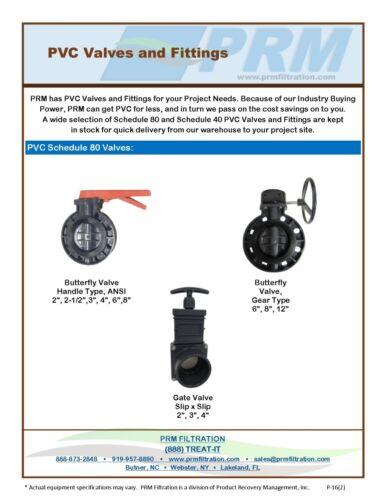 Nuevo SCH 80 PVC 3 pulgada válvula de bola Compacto Conexión Enchufe Gris Nuevo SCH 80 PVC