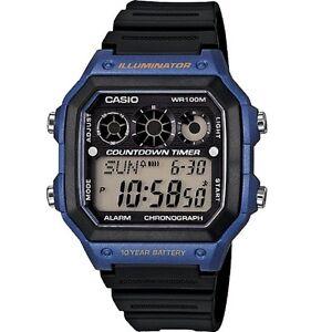 Casio-AE-1300WH-2A-Blue-Illuminator-Chronograph-Digital-Watch-With-Gift-Box