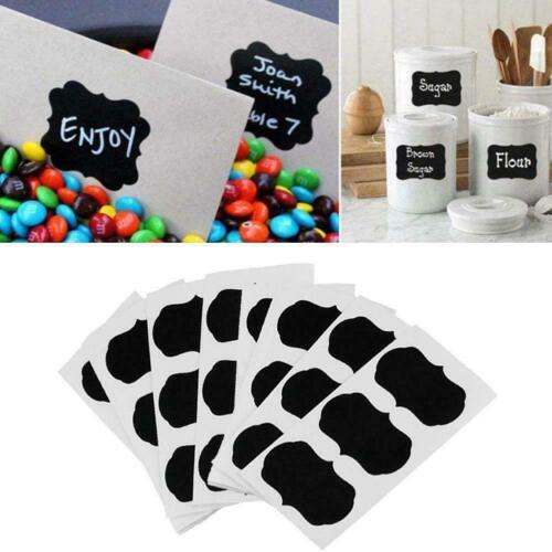 36Pcs//set Blackboard Sticker Craft Kitchen Jar Labels Organizer Chalk G3M7
