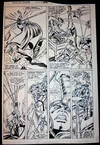 THOR # 406 ORIGINAL COMIC ART / RON FRENZ & JOE SINNOTT / THOR BATTLE PAGE / 198