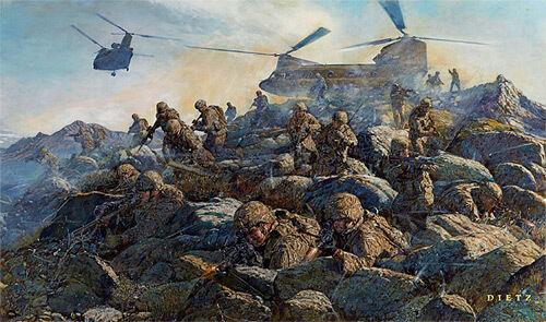 "/""The Rock Returns/"" James Dietz Print Task Force Rock Afghanistan"