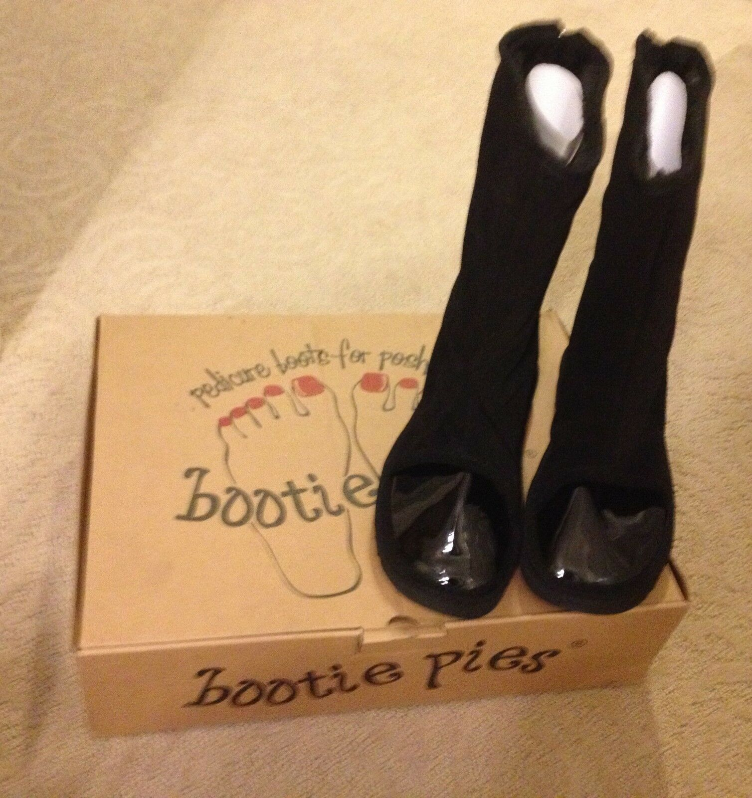 Bootie Pies Pedicure Boots Size 5 Black