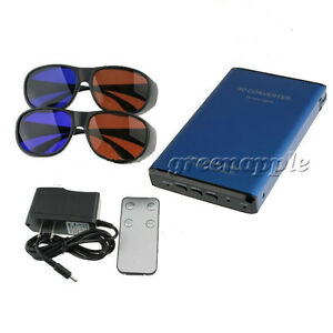 Portable-2D-to-3D-Converter-HDMI-1080P-Switcher-With-Glasses-For-TV-DVD-PSP-WII