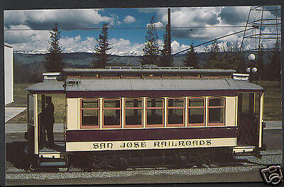 A7119 Jose Transport Museum Kelley Park Postcard San Trolley Number Car 168 zPvwz