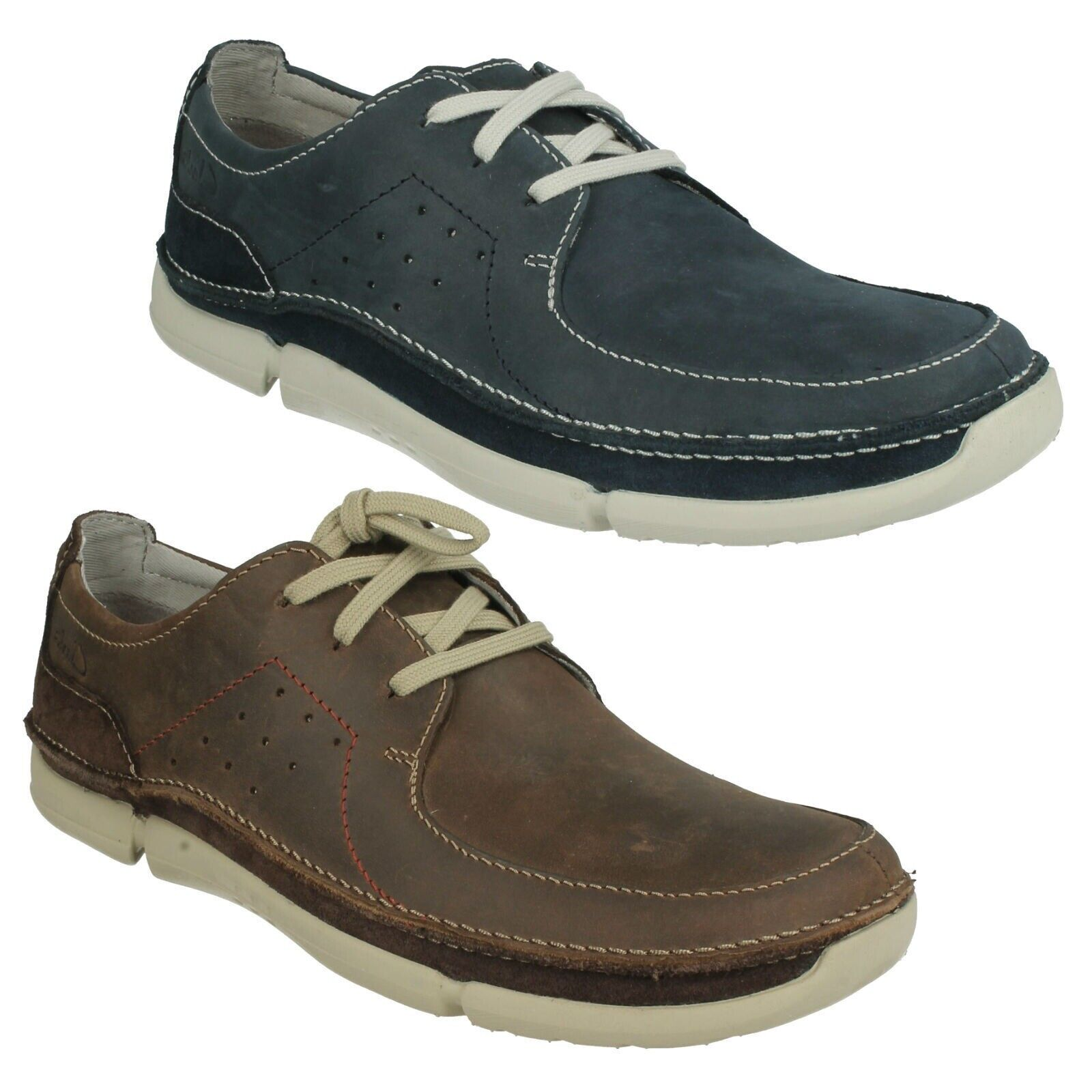 TRIKEYON FLY MENS CLARKS LIGHTWEIGHT CASUAL LACE UP LEATHER schuhe TRAINERS
