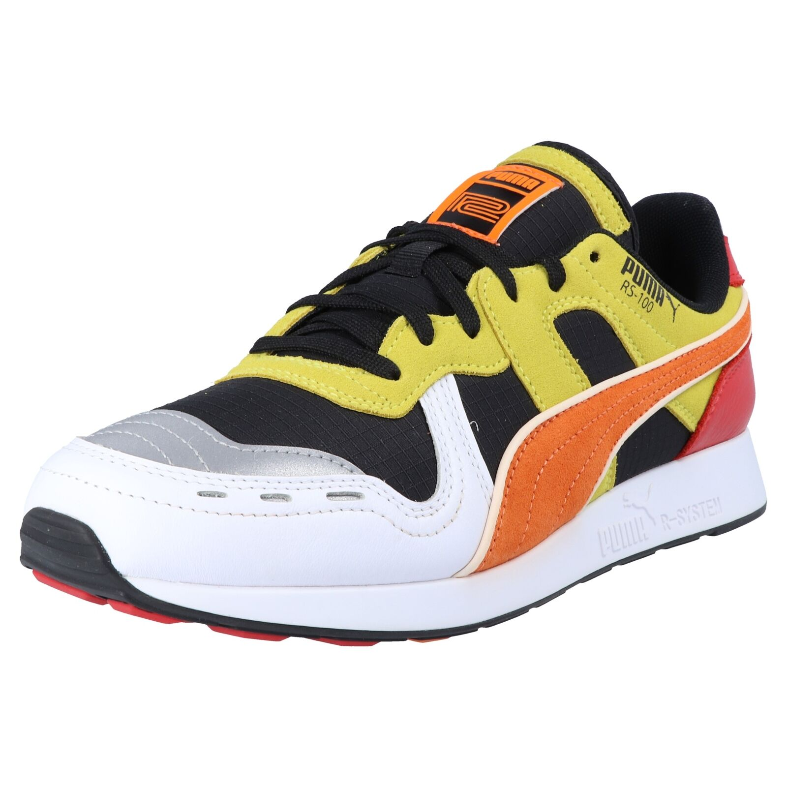 Puma RS 100 x roland unisex fashion cortos zapatillas zapatos multiColor naranja amarillo
