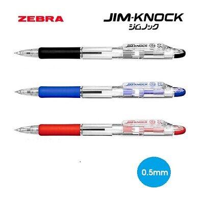 New Zebra Ball Point Pen JIM-KNOCK 0.7 KRB-100-P Pink Body 0.7