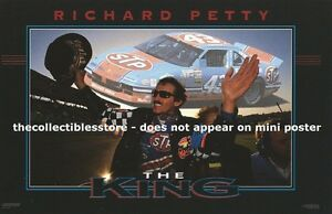 RICHARD-PETTY-STP-RACING-THE-KING-NASCAR-WINSTON-CUP-COSTACOS-MINI-PHOTO-POSTER