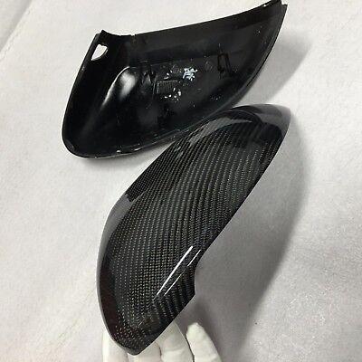 Set car mirror cover trim cap carbon fiber W// Side Assist j For Audi A4 B9 2016+
