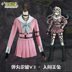 Danganronpa-V3-Killing-Harmony-Cos-Iruma-Miu-School-Uniform-Cosplay-Costume-Set