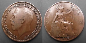 0231 GREAT BRITAIN GEORGE V PENNY 1915 - <span itemprop=availableAtOrFrom>NEWTON AYCLIFFE, Durham, United Kingdom</span> - 0231 GREAT BRITAIN GEORGE V PENNY 1915 - NEWTON AYCLIFFE, Durham, United Kingdom