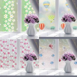 Lc fenster folie kein klebstoff dekor privatsph re badezimmer glas aufkleber ebay - Badezimmer fenster glas ...