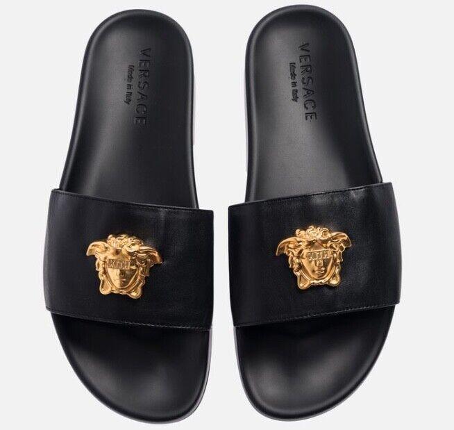 PalmSpringsHypeBeast Kith x Versace Leather Slides Size 9