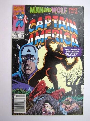 CAPTAIN AMERICA #402 JULY 1992 # 24F72 Marvel Comics