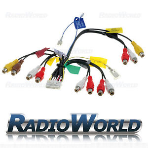 pioneer rca pre out phono cable lead wiring harness avic d3 avic rh ebay co uk pioneer avic-f700bt wiring harness