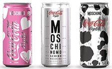 Coca cola 3 lattine Moschino Heart new 2014 cans full piene coke