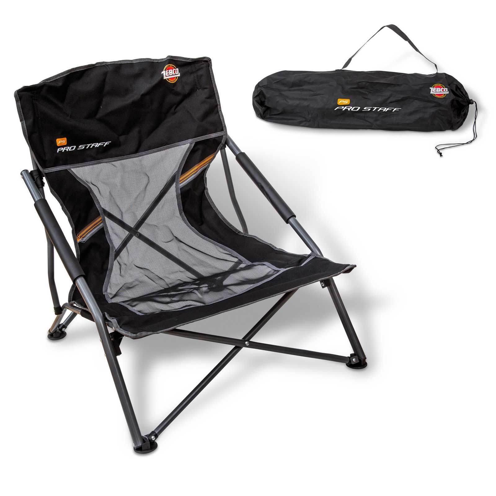 Zebco Angel Chaise Chaise de camping plage Chaise Chaise Pliante Pêche-Pro Staff FG plat