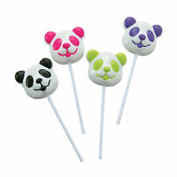 12 Party Favors Everyday Candy Buffet Table Panda Shaped Suckers Lollipop 2