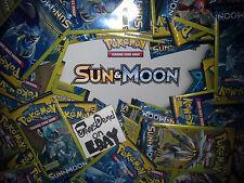 10 x Pokemon Sun & Moon Dollar Tree 3 card Booster Packs - Factory Sealed -FRESH